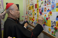 His Eminence John Cardinal Tong Hon wrote the blessing words on the Mosaics.